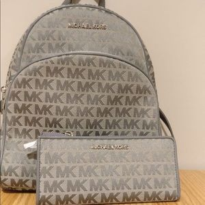 Michael Kors Backpack +Wallet Bundle